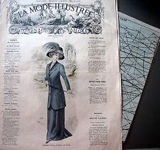 LA MODE ILLUSTREE + PATRON,  n° 41/1909 Voir modèles à réaliser, FRENCH PATTERN