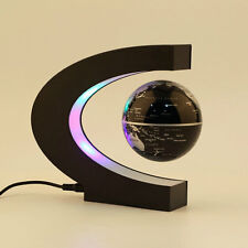 C shape LED World Map Decoration Magnetic Levitation Floating Globe Light LE