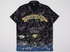Mens Christian Audigier Gold S/S Embellished w/ CRYSTALS Polo Black Large   MINT