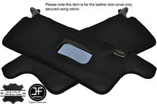 BLACK STITCHING 2X SUN VISORS LEATHER COVERS FITS HONDA CRX 1988-1991