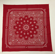 Classic Colorfast USA Bandana Head Wrap Scarf 100% Cotton Red New