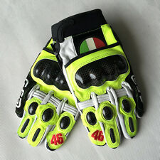 VR46 gloves Valentino Rossi 46 motorcycle gloves leather carbon