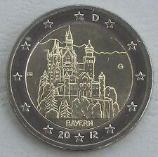 2 Euro Deutschland G 2012 Neuschwanstein / Bayern unz