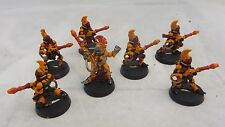 Warhammer 40K Eldar Fire Dragons inc Exarch  army lot metal painted