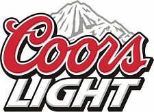 "COORS LIGHT Vinyl Sticker Decal 14"" (full color)"
