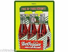 1940's Dr. Pepper Soda Advertising Repro  Refrigerator / Tool Box Magnet