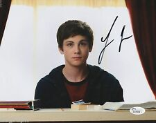 Logan Lerman Signed 8x10 w/ JSA COA #L51542 The Perks of Being a Wallflower