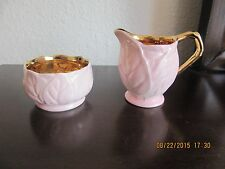 Royal Winton Grimwades Mini Creamer and Open Sugar Bowl --- Embossed Leaf
