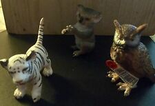 Vintage Collectable 3 Assorted Schleich Retired Animal Figurines