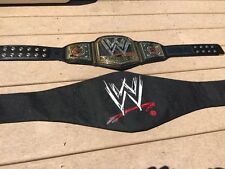 WWE 2013 championship replica title belt Metal Plates Very Nice Shape Kids Size