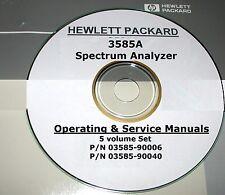 Hewlett Packard Ops & Service Manual Set/5-Volumes for 3585A Spectrum Analyzer