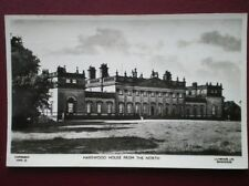 POSTCARD RP YORKSHIRE LEEDS - HAREWOOD HOUSE C1955 FROM THE NORTH