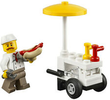 NEW LEGO HOT DOG VENDOR & CART 60134 fun in the park minifig minifigure figure