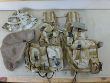 #468 British DESERT DPM EINSATZWESTE TACTICAL VEST LOAD CARRYING + 11 POUCHES