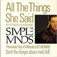12 45 SIMPLE MINDS ALL THE THINGS SHE SAID DON'T YOU LIVE 1986