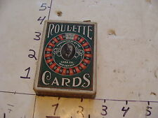 Vintage card game--UNUSED ROULETTE CARDS, 1905 A.K. FERRIS