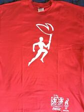 vtg NWOT coca cola 1996 atlanta olympic torch relay t shirt mens XL always coke