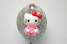 GLITTERY HELLO KITTY RN MEDICAL DOCTOR EMT NURSE VET TEACHER ID BADGE HOLDER