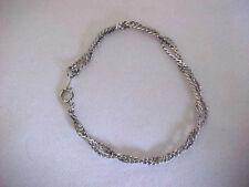 """Silver Chain Bracelet Braided Snake Chain Bracelet 7-1/4"""""""