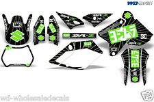 Decal Graphic Kit Suzuki  DRZ400 DRZ 400 SM 400sm Backgrounds Y Exhaust Gren/Blk