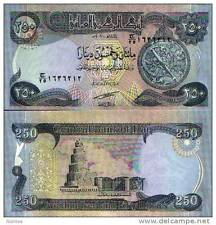 Iraq - 250 dinars - UNC currency note - 2004 issue