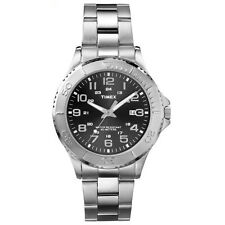 Timex Taft Street Black Dial Stainless Steel Mens Watch T2P391