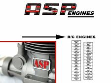 ASP Engine Info Sheet  ~ Parts List & Numbers