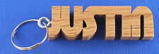 Personalized Hand Cut Wooden Key Chain - Men's
