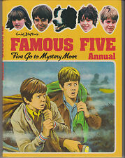Enid Blyton Famous Five Annual Five Go To Mystery Moor Vintage Old Book 1980 TV