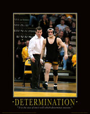 Iowa Hawkeye Wrestling Motivational Poster Art Brent Metcalf Asics Shoes  MVP31