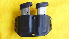 DOUBLE MAG HOLSTER BLACK KYDEX SMITH AND WESSON S&W M&P Shield OWB