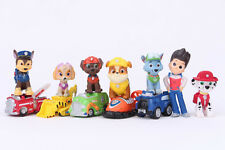 12Pcs PAW PATROL Mini Figures Playset Cake Toppers, Ryder + 5 vehicles + 6 pups