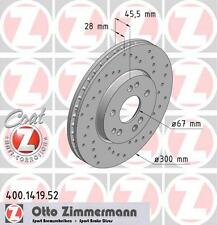 ZIMMERMANN 400.1419.52 FRONT SPORT BRAKE DISCS PAIR (COAT Z)