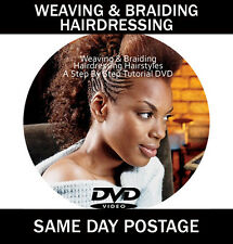 WEAVING AND BRAIDING TUTORIAL DVD BEGINNERS STEP BY STEP HAIR STYLING GUIDE