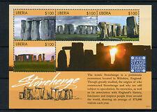 Liberia 2015 MNH Stonehenge Monument Europhilex 4v M/S Architecture
