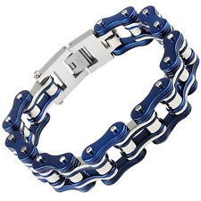 Bike Bracelet Heavy Stainless Steel Men's Bycicle Chain Motorcycle Jewelry Gift