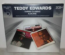 2 CD TEDDY EDWARDS - 3 CLASSIC ALBUMS - NUOVO NEW