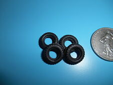 DINKY TOYS Lot de 4 small mini pneus noirs pour VIVA, FORD diametre 13mm 13/6
