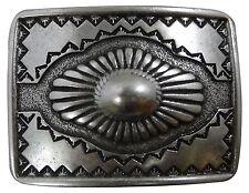FRONHOFER Indianer Gürtelschnalle Damen Herren, Western Buckle altsilber 4 cm