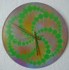 Tribal record Wall Clocks.psychedelic.fractal.FSOL.HAWK WIND.Trippy.GONG.UV