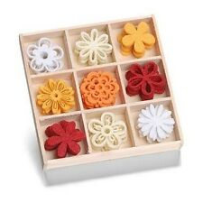 Box of 45 FELT SHAPES ORNAMENTS Fantasy Flowers #218  8001 203