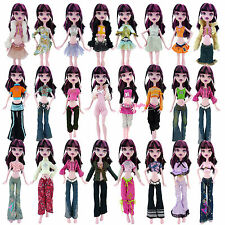 "5x Random Dress Outfit Blouse Trousers Clothes For Monster High 10"" Doll #GR01"