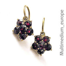 333 er Gold Ohrringe mit Granat vintage earrings garnet 30er Jahre