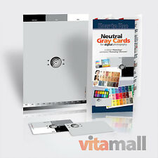 "SET of NEUTRAL DIGITAL GRAY CARDS (for white balance). Size 6x9"" and 2x3.5"""