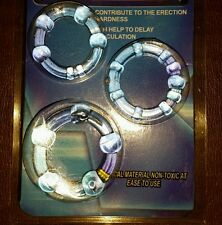 BIG O Ring Stop Premature Ejaculation Erection Impotence Penis Delay 3 Pack Aid.