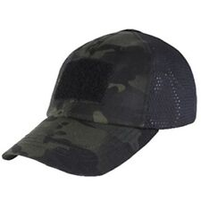 TCM-021 Condor Tactical Adjustable Hook-n-Loop Hunting Mesh Cap Black Multicam