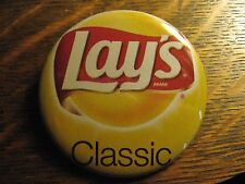 Lay's Classic Potato Chips Yellow Bag Snack Advertisement Pocket Lipstick Mirror