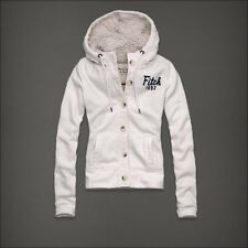 Abercrombie and Fitch Hallie Outerwear Jacket White Medium