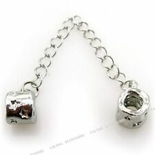 5x 150630 Wholesale Charms Safety Chain Bracelets With Stopper Bead 8.8CM