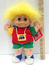 "Russ Berrie Troll Kidz Buster Boy Troll Doll Original Stuffed Soft Large 13"" NWT"